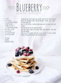 Blueberry lemon waffles by Call me cupcake, via Flickr