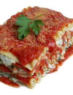 You will not miss the cheese in this vegan version of the classic Lasagna. Blended blanched almonds and tofu create a creamy, ricotta cheese like filling.