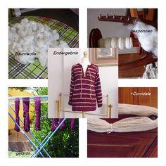 Projekt Baumwolle Teil 1 Baumwolle mit Corridale zu einem Pullover verarbeitet