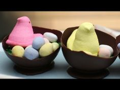 Learn how to make Easter chocolate bowls with a balloon.