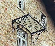 Auvent authentique 3 pentes lapeyre renovation pinterest chang 39 e - Marquise en fer forge ...