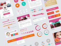 Freebie - Flat Design User Interface Elements