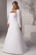 This wonderful Wedding Dresses  Formal Design Fresh Features Detachable Long Sleeve And Fancy Strapless Neckline Wedding Dress  This beatiful cheap wedding dresses use the Chffion material, the front Strapless neckline compose this elegant and charming dress. A-Line outline match with your unique and sexy appeal.Dressaler.com offer you the best Plus Size Wedding Dresses There must be one for you. - $151.19