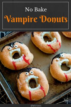 Grab a dozen glazed doughnuts and some vampire teeth for the funniest Halloween treat ever