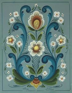 tole painting patterns step by step flowers at DuckDuckGo Folk Art Flowers, Flower Art, Flower Fairies, Rosemaling Pattern, Tole Painting Patterns, Wood Patterns, Henna Patterns, Norwegian Rosemaling, Russian Folk Art