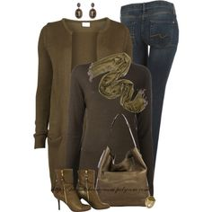 """Olive & Brown"" by stay-at-home-mom on Polyvore"