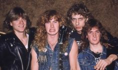 Megadeth Metallica, Nick Menza, Justin Hawkins, Marty Friedman, David Ellefson, Kerry King, Dave Mustaine, Band Photos, Heavy Metal Bands