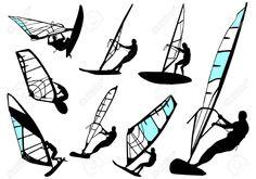 4858649-windsurfing-vector-set-Stock-Vector-windsurfing-windsurf-windsurfer.jpg (1300×909)