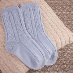 Luxuriously soft and warm - Cashmere cable socks & cushion Cashmere, Cable, Cushion, Socks, Warm, Luxury, Bed, Instagram Posts, Cabo