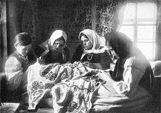 Чернігівські вишивальниці за роботою, прибл.1914 р