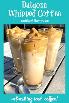 Dalgona Whipped Coffee, is a refreshing drink that's so easy to make. Cool off with an iced whipped coffee that's right on trend!