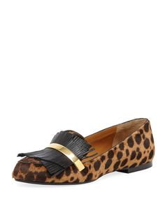 Leopard-Print+Calf+Hair+Fringe+Loafer+by+Chloe+at+Bergdorf+Goodman.
