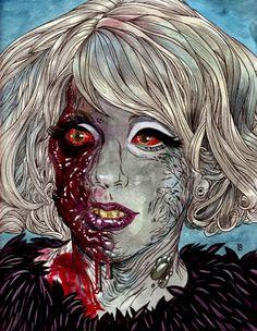Custom zombie portraits by Rob Sacchetto.