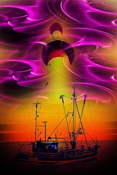 'Leuchtturm 5' von Walter Zettl bei artflakes.com als Poster oder Kunstdruck $16.63