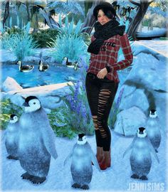 Jenni Sims: Penguin Decorative • Sims 4 Downloads
