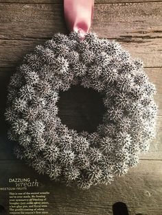It wouldn't be too hard finding the supplies to make this, our yard's covered in sweetgum tassels! Xmas Wreaths, Christmas Decorations, Holiday Decor, Christmas Ideas, Sweet Gum Tree Crafts, Santa Baby, Tis The Season, How To Dry Basil, Brown And Grey