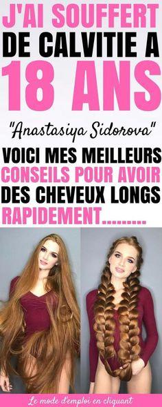 Comment avoir de beaux et longs cheveux rapidement ? Anastasiya Sidorova est aujourd'hui une spécialiste des cheveux. Elle aide des milliers de femmes à avoir de longs et beaux cheveux. Elle prouve par son propre exemple qu'un diagnostic de calvitie n'est pas une fin. À 18 ans, les cheveux d'Anastasia ont commencé à tomber et on lui a diagnostiqué une alopécie androgénétique. #cheveux #cheveuxlong #cheveuxdereve #astuces #astucesbeauté #astucesdefilles #trucs #trucsetastuces #beauté