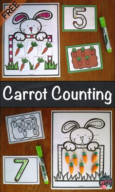 Use this free carrot counting activity with your preschoolers to provide experiences in counting, cardinality, numeral recognition, and numeral formation.