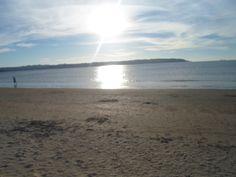 Anochecer en la playa de Miño, La Coruña