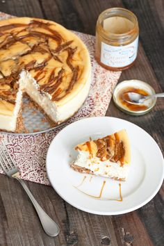 Peanut butter and caramel cheesecake