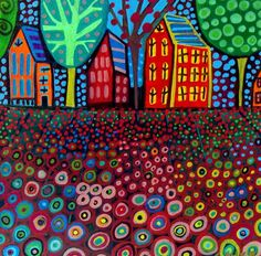 Landscape Art  Modern Landscape Art Print by HeatherGallerArt, $24.00