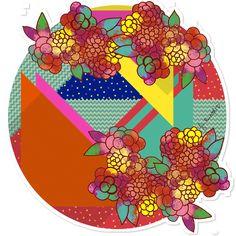 Adesivo Floral Geométrico de @jurumple | Colab55