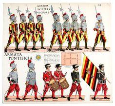 Risultati immagini per uniformi dell'esercito pontificio