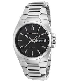 Wittnauer WN3044 Stainless Steel Day & Date Black Diamond Dial Men's Watch https://www.carrywatches.com/product/wittnauer-wn3044-stainless-steel-day-date-black-diamond-dial-mens-watch/  #men #menswatches #watchwithdiamonds #wittnauer-#wittnauerwatches - More Wittnauwer mens watches at https://www.carrywatches.com/shop/wrist-watches-men/wittnauwer-watches-for-men/
