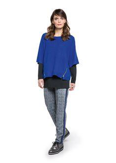Habt Ihr Lust auf die neuen angesagten Glencheck Hosen in trendigem Blau? Viel Spaß mit den neuen Doris Streich Outfits! #glencheck #fashion #herbst #strick
