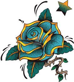 Blue Rose by artbeautifulcloth