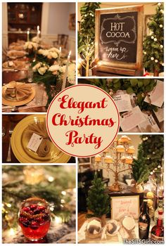 Elegant Christmas Decor | Plan an elegant Christmas party this year with these beautiful ideas for your holiday table, food, and decor.