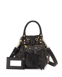 Giant 12 Golden Mini Pompon Bag, Black by Balenciaga at Bergdorf Goodman.