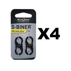 Nite Ize S-Biner MicroLock - Black (4-Pack)