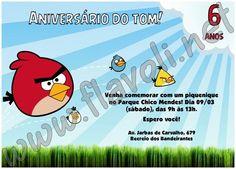 Convite Angry Birds  :: flavoli.net - Papelaria Personalizada :: Contato: (21) 98-836-0113 vendas@flavoli.net Festa Angry Birds, 98, Personalized Stationery, Ticket Invitation