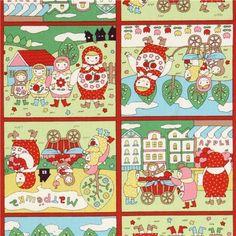 cute colourful matryoshka fabric Kokka Japan; super adorable!  What should I make?
