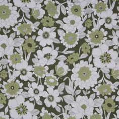 Green Floral Printed Cotton Poplin Fabric by the Yard | Mood Fabrics