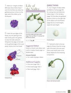 #ClippedOnIssuu from Ribbonwork flowers