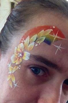 Quick eye design flowers and rainbow