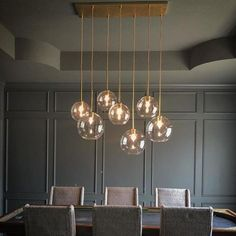 Elegant modern chandelier dining room lighting ideas for this year 21 Dining Room Light Fixtures, Dining Lighting, Kitchen Lighting, Kitchen Fixtures, Globe Light Fixture, Cool Light Fixtures, Wood Chandelier, Globe Chandelier, Modern Chandelier