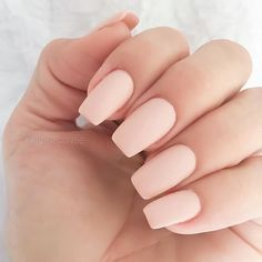 Pale peach nail polish , nude nails #nails #nailpolish