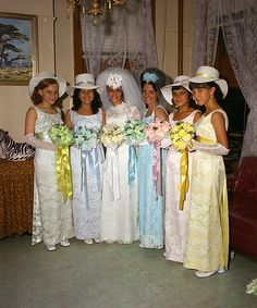 As soon as Tricia's bridesmaids wrapped up the reception it was a mad dash for the Kentucky Derby.