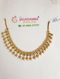 New ruby emerald necklaceWt: 20 to 13 October 2019 Gold Jhumka Earrings, Gold Earrings Designs, Beaded Jewelry Designs, Gold Jewellery Design, Necklace Designs, Gold Necklace Simple, Gold Jewelry Simple, Emerald Necklace, Schmuck Design