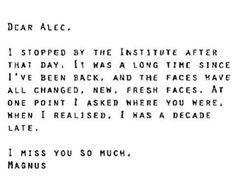 #malec #sad #love #Magnus #immortality #letter