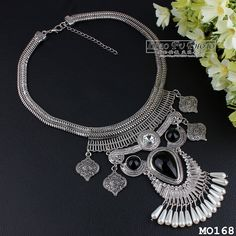 Women Fashion Jewelry Pendant Crystal Choker Chunky Statement Chain Bib Necklace #Unbranded #Charm