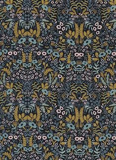 Tapestry in Midnight Menagerie Rifle Paper Co. for Cotton