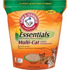 Arm & Hammer Essentials Multi-Cat Natural Clumping Cat Litter, 18 lbs.