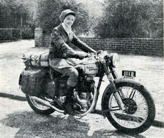 Winifred Wells crossed Australia and back in the summer of '50 and '51 (our winter is their summer) on this 350 Bullet when she was 22. Quite heroic at the time.