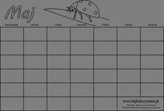 Kalendarz do druku dla dzieci maj