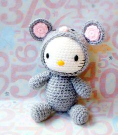 Crochet amigurumi Pattern Zodiac Rat Kitty by ZodiacGurumi