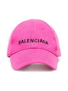 10137f92 Balenciaga Pink Logo Embroidered Cap Embroidered Caps, Pink Hat, Caps For  Women, Balenciaga